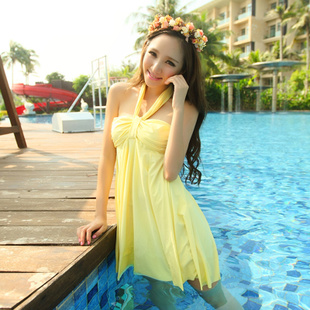 The new swimsuit swimwear 13011 Haixiang two piece split skirt was thin cover belly hot springs swimsuit big yards