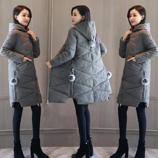 2017 мягкий сестра зима пальто женщины зима в обратных сезон хлопок девочки длинная модель тонкий корейский хлопок одежда ватник