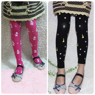 Kids baby girls tights children candy colored velvet stockings pantyhose spring and autumn pantyhose bottoming