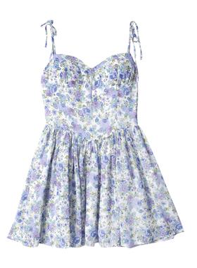 复古庄园大码碎花连衣裙女2021新款夏季微胖炸街收腰仙女吊带裙子