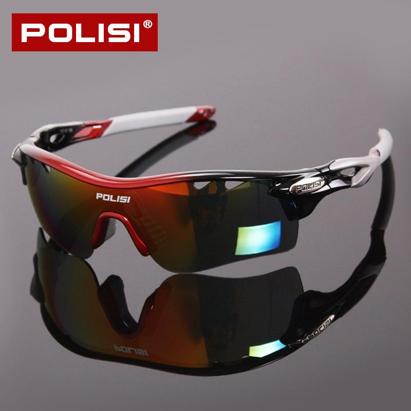 POLISI专业骑行眼镜偏光男女山地自行车防风户外跑步运动眼镜装备