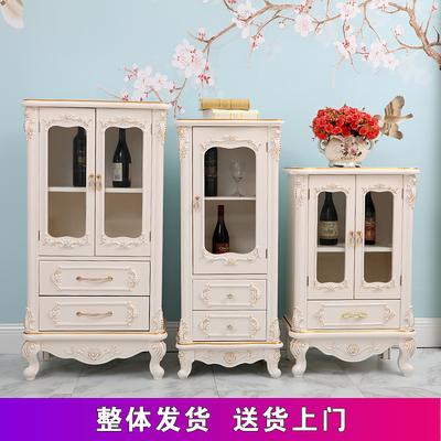 欧式现代简约实木小酒柜玄关装饰收纳厨房柜储物柜餐厅客厅柜包邮