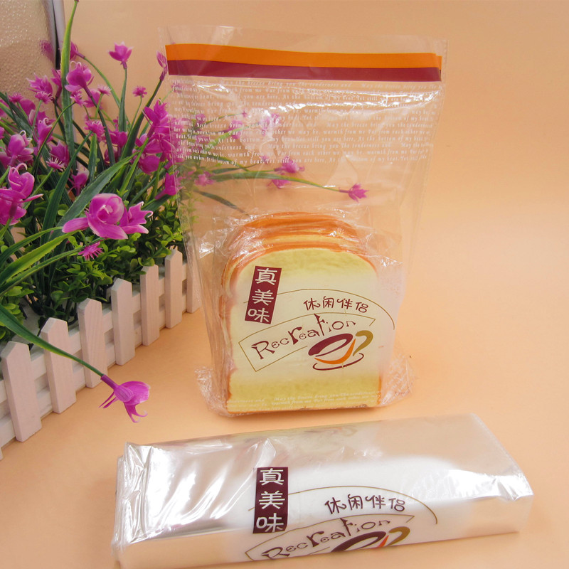 Parcel post toast bag baking packaging snack bag sliced French bread bag thickened transparent plastic square bag