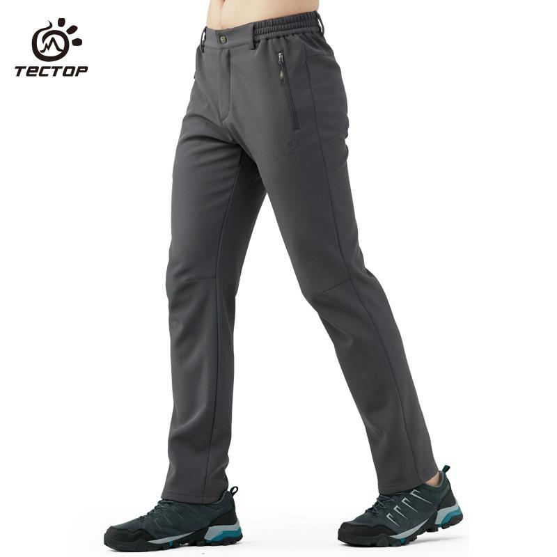 Tectop исследовать развивать пулемёт брюки модельа мягкая оболочка брюки осень зима на открытом воздухе теплый восхождение брюки толстые модель водонепроницаемый