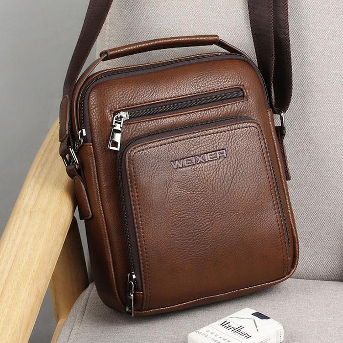 Bag men 2020 new leisure fashion fashion fashion crossbar small backpack vertical business mens shoulder bag mobile phone bag