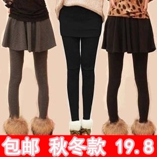 Winter plus thick velvet leggings female autumn and winter Korean yards fake two thick leggings culottes female winter