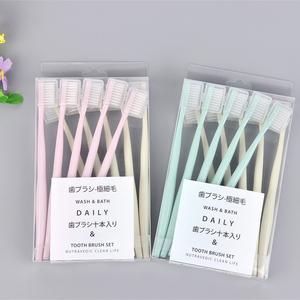 日式软毛牙刷女成人带保护套家用家庭装日本10支装组合装套装包邮