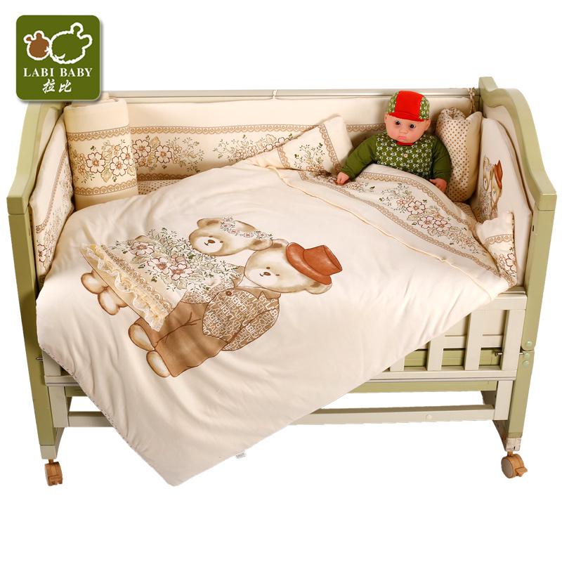 拉比床組浪漫床上用品八件套嬰童被子床圍床單