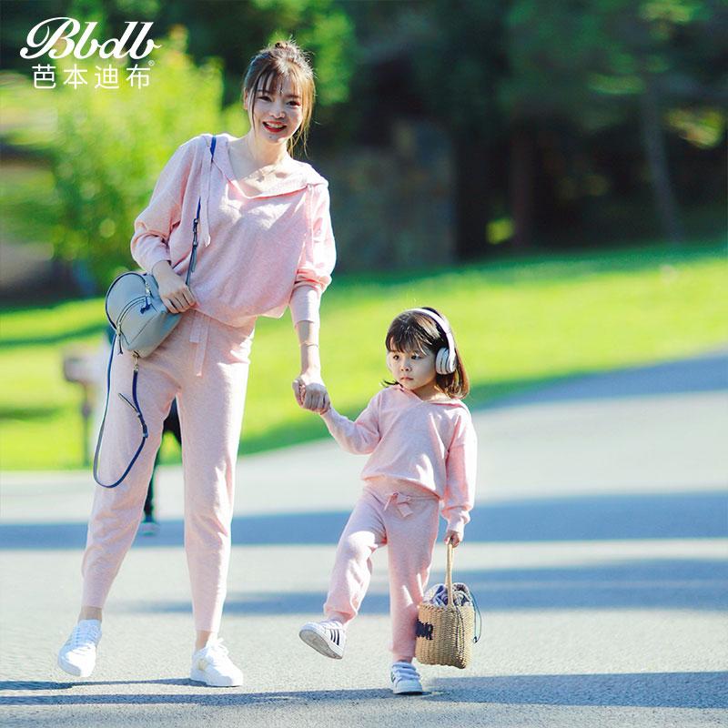 原创设计亲子装卫衣2019秋装新款母子儿童针织套头衫男童女童