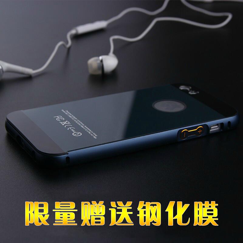 蘋果5C手機殼 iPhone5C手機套 iPhone5C金屬邊框後蓋保護外殼男女