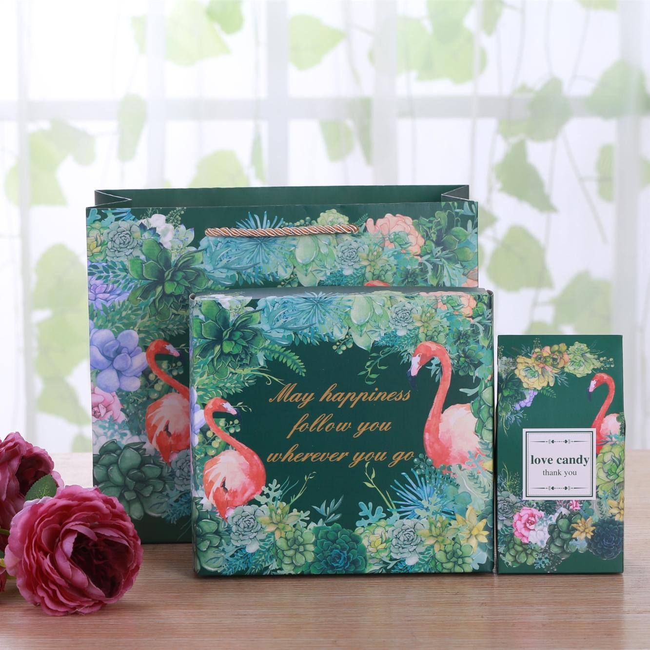 烘焙马卡龙牛轧饼雪花奶酥食品干果包装礼品大盒子纸盒手提礼物盒