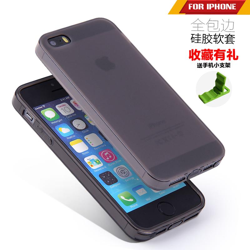 苹果5s手机壳磨砂硅胶防摔软iphone5代保护套简约4s外壳5se全包边
