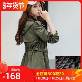 短款外套女秋冬百搭2020新款韩版军绿色休闲棉服加厚小个子风衣潮