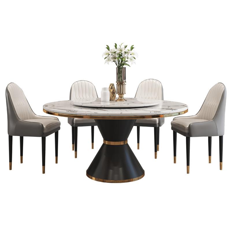 卡答轻奢大理石带转盘意式极简圆桌好用吗