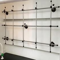 通風柜網架合成架通風櫥網架玻璃纖維棒不銹鋼蒸餾架連接桿實驗室