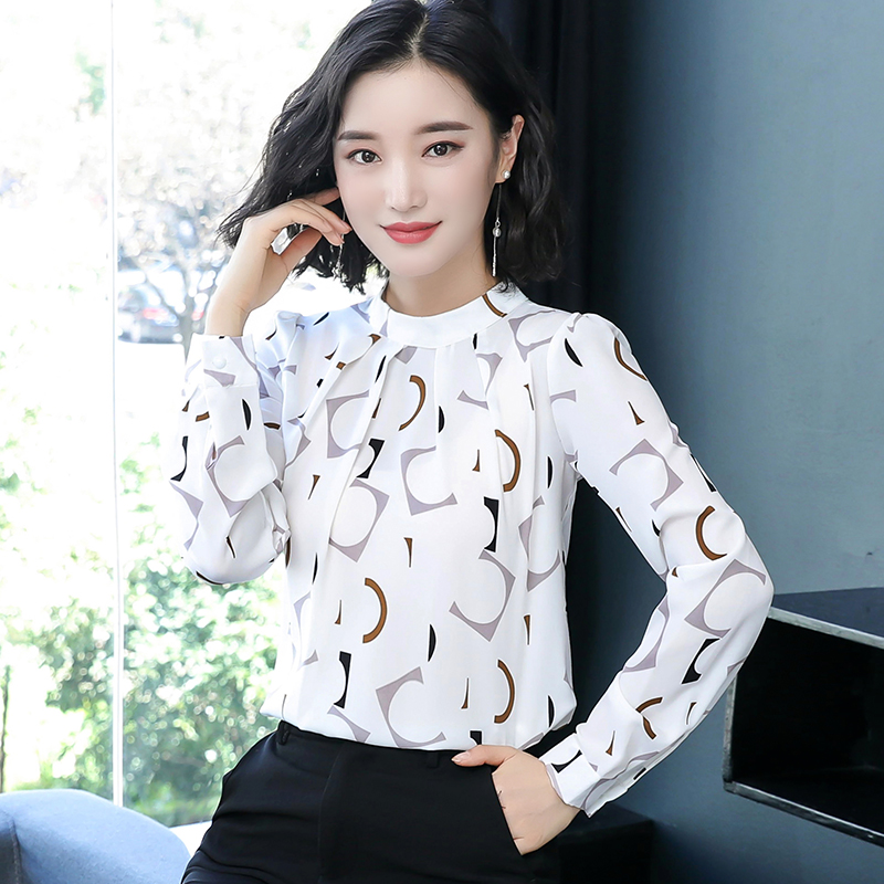 Autumn womens wear new style Korean Long Sleeve Chiffon shirt in early autumn of 2019
