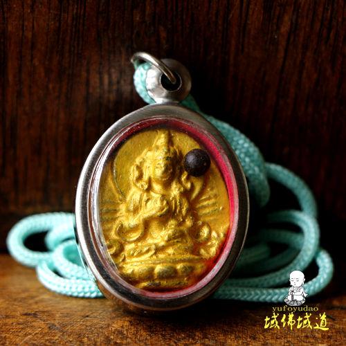 热卖独家不丹王国手工擦擦佛牌观世音菩萨吊坠项坠保平安护身符