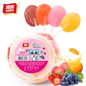 雅客 水果味棒棒糖429g 约66支 19.9元包邮(需用券)
