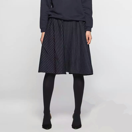 Special clearance womens clothes 2021 spring and summer new cotton medium length skirt spring new solid striped skirt