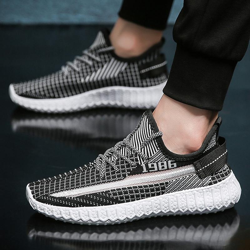 椰子鞋2020新款夏季韩版透气飞织透气运动鞋学生男跑步休闲鞋子