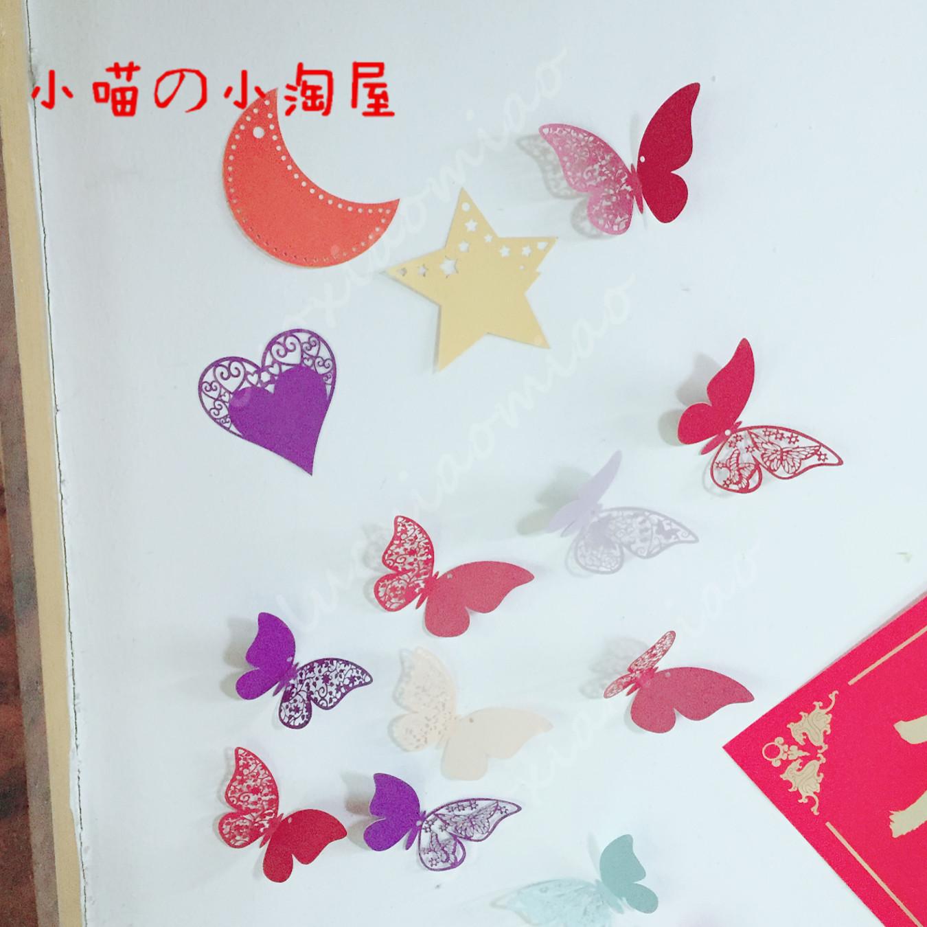 多款小鸟蝴蝶许愿卡吊卡 祝福心愿墙贴 留言卡感谢卡小卡片 50张