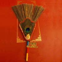 Тибетский буддизм Буддийский культиватор музыкальный инструмент чайник Чайник Непальский павлин перо Маскот павлин молитва фанатская музыка 30см