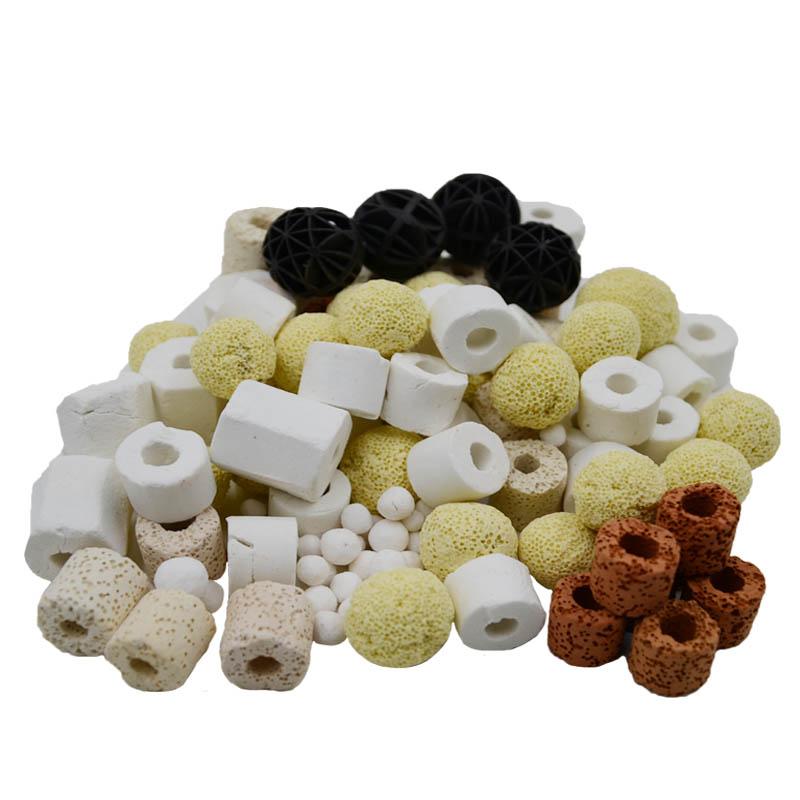 魚缸濾材水族箱過濾材料細菌屋硝化細菌陶瓷環全能10合1濾材500克