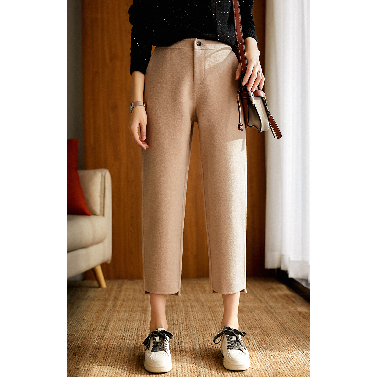 [KZ117918AL] 值得收藏高精尖精品系列手工双面全羊毛休闲裤
