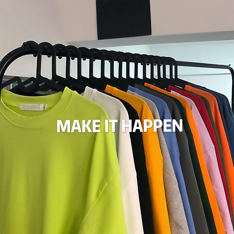 短袖t恤女2020年夏季新款网红ins潮超火白色宽松bf风情侣纯色体恤