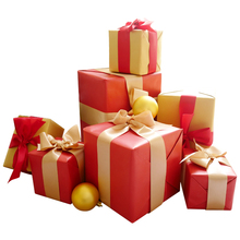 Christmas decorations, gift boxes, new year's Spring Festival, windows, props, gift boxes, scenes, stacks, Christmas boxes.