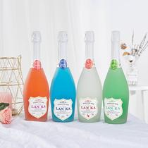 瓶组合装4蓝卡蓝莓味起泡酒果酒桃红女士低度甜酒配制酒甜蜜果味