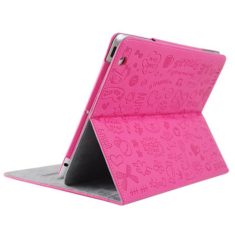 蘋果ipad4保護套ipad2保護套可愛卡通超薄帶休眠ipad3韓國皮套殼4