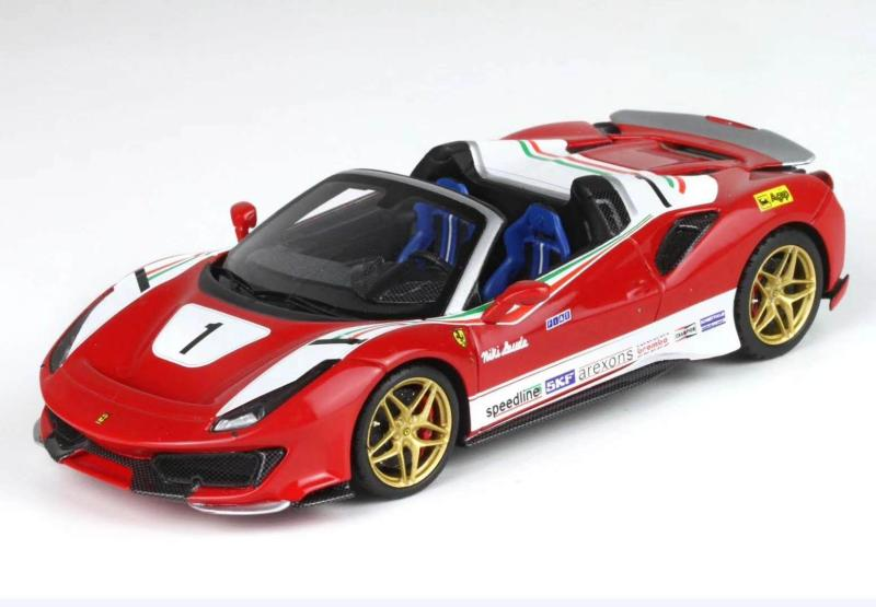 BBR 1 / 43 Ferrari 488 pista spider (Niki Lauda) resin model