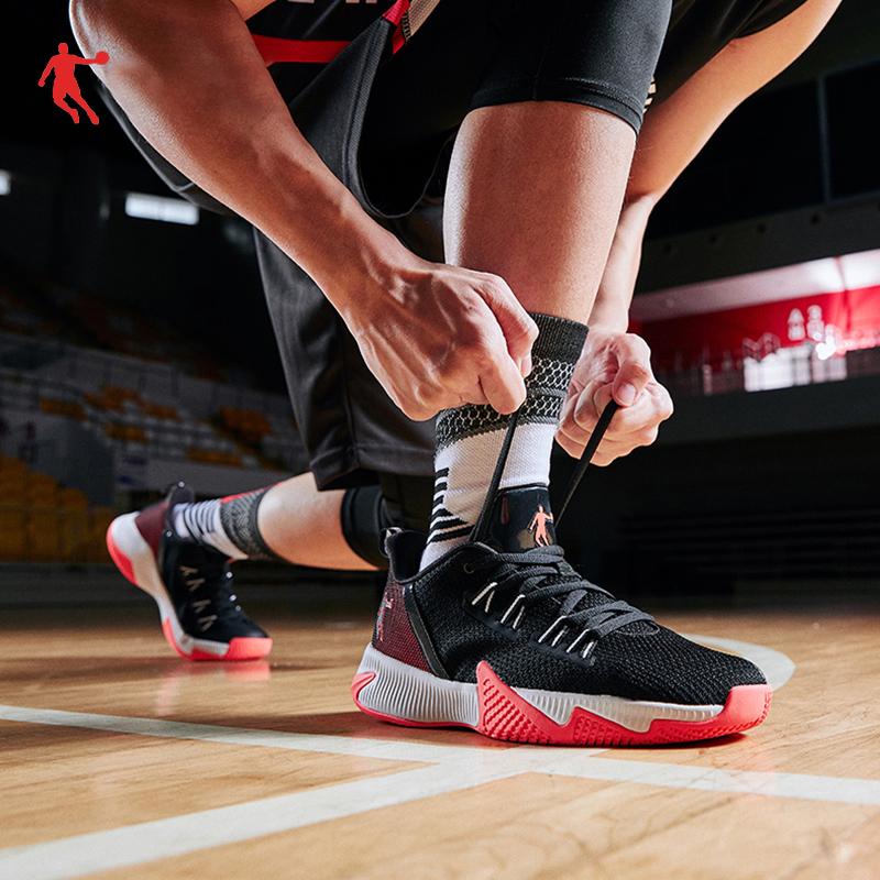 乔丹篮球鞋男鞋2020秋季中帮球鞋男学生透气减震网面运动鞋男战靴图片
