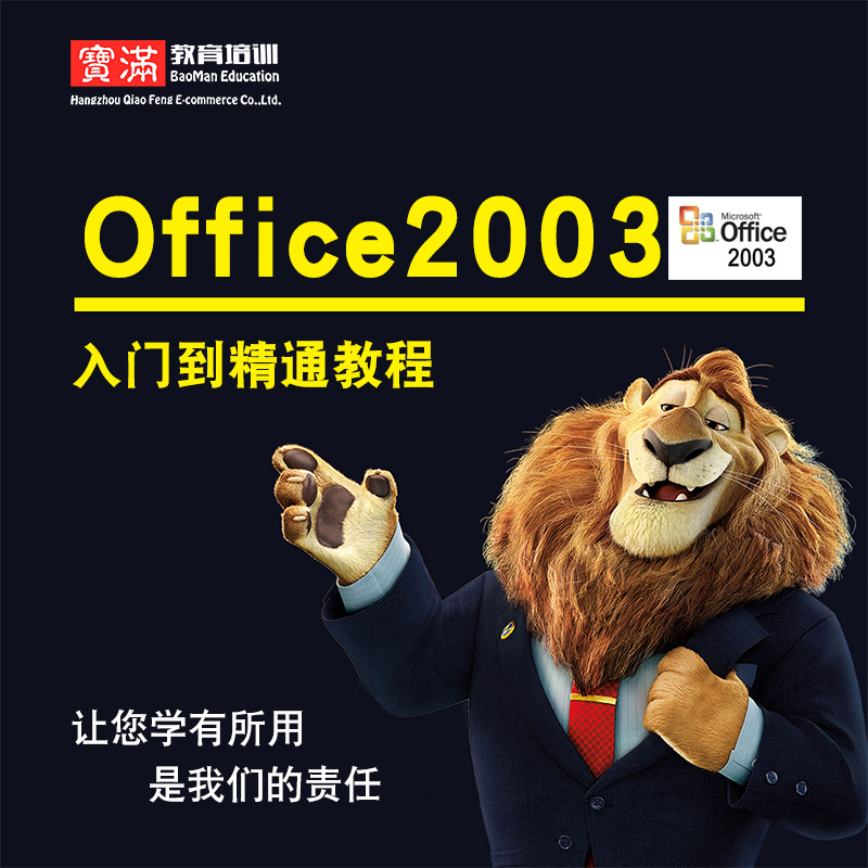 office2003视频教程 word/excel/ppt/access/outlook全套实战教学
