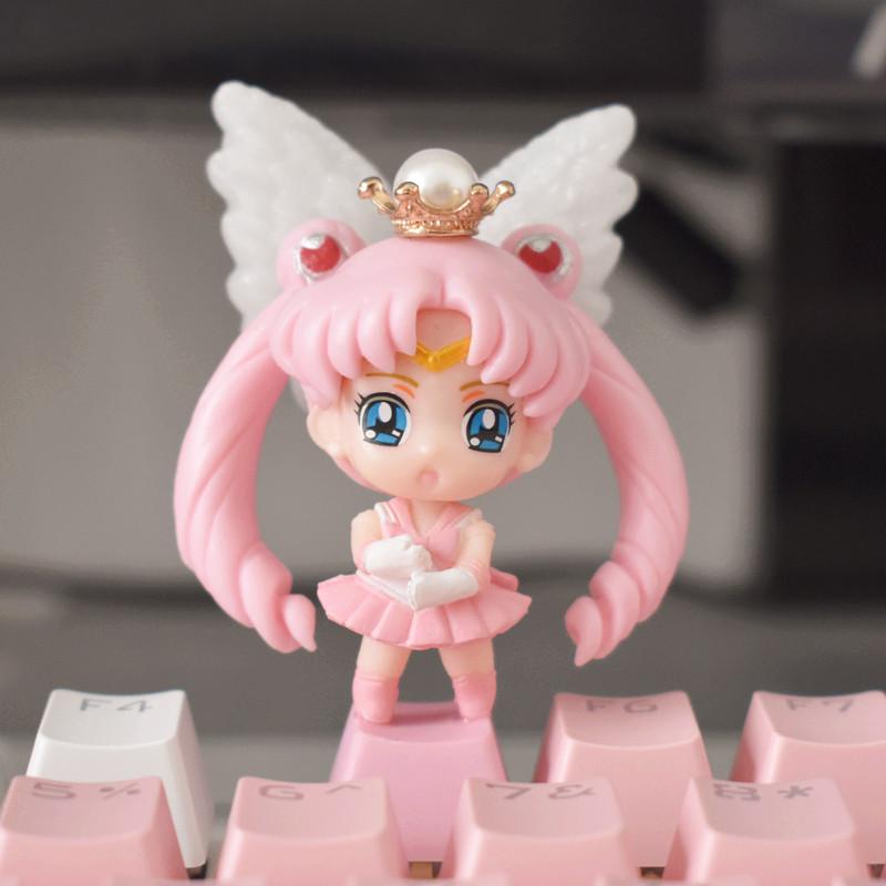 可爱个性定制r4机械美少女粉色键帽