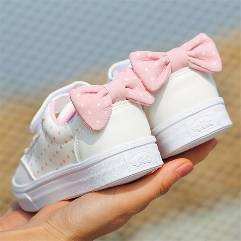 儿童鞋子帆布鞋2018春季新款女童鞋魔术贴男童板鞋幼儿园小白鞋潮