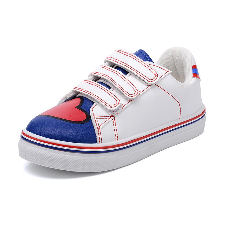 女童板鞋百搭小白鞋2016潮 小學生透氣愛心兒童 鞋