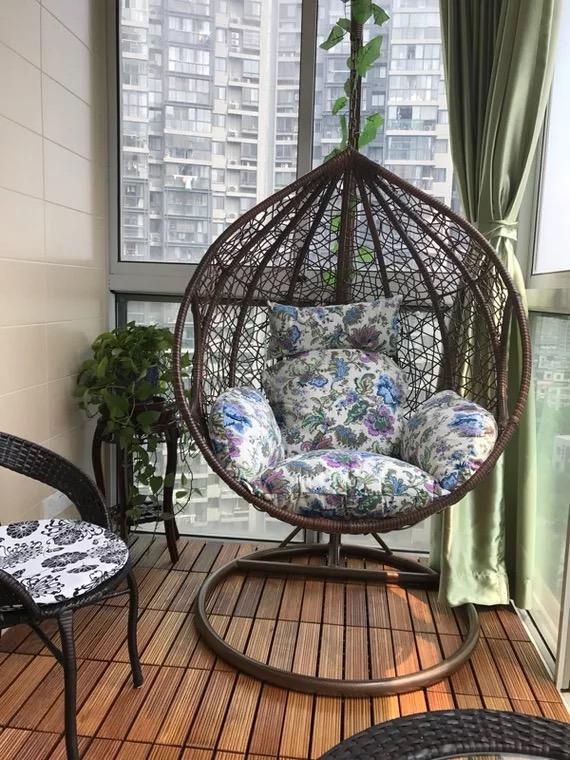 Железо гнездо вешать стул плетеный стул корзина качели на открытом воздухе комнатный балкон гостиная новый бездельник гамак шезлонг кресло-качалка