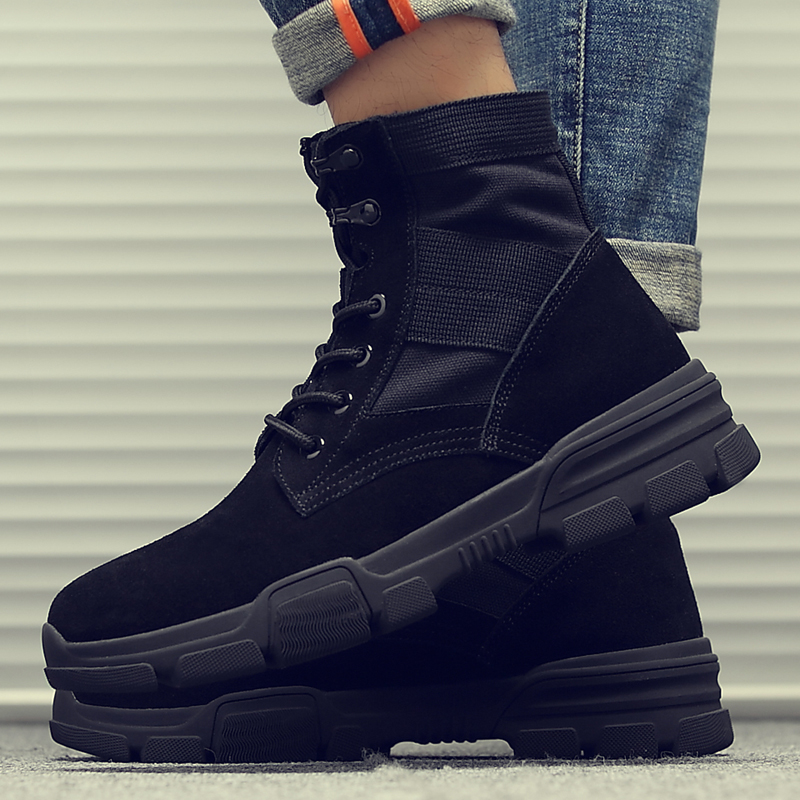Martin boots mens new winter leisure British military boots snow high top desert work clothes mens shoes fashion mens boots 7011