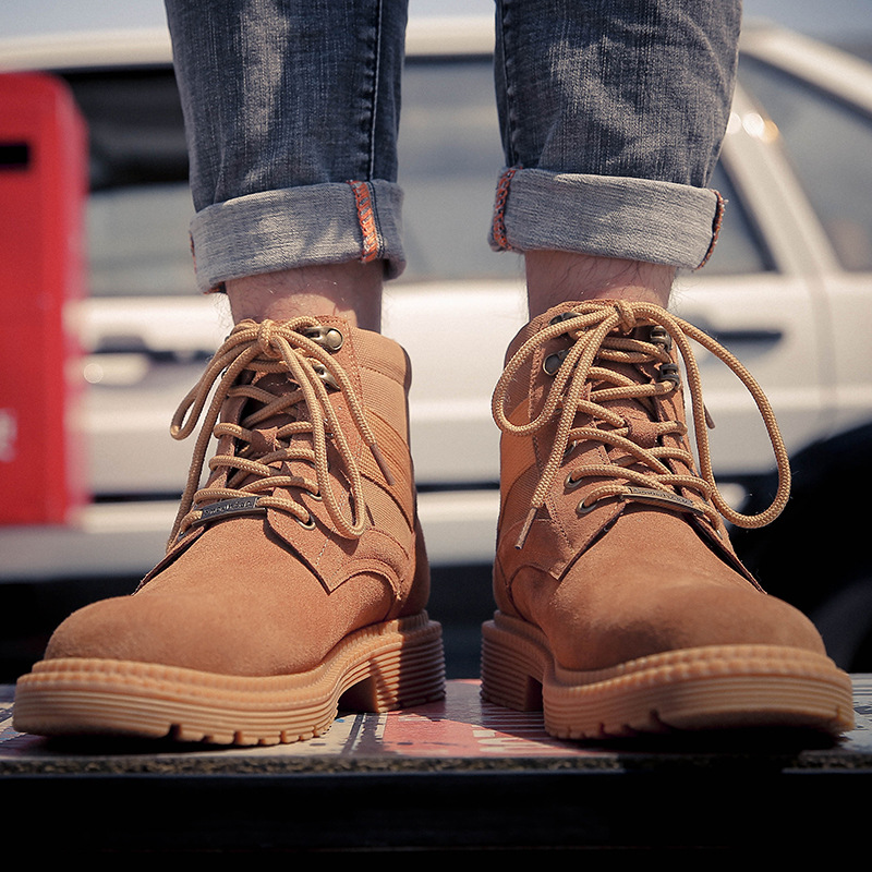 Autumn Martin boots mens British outdoor work boots ins mens high top shoes leather fashionable new mens Boots