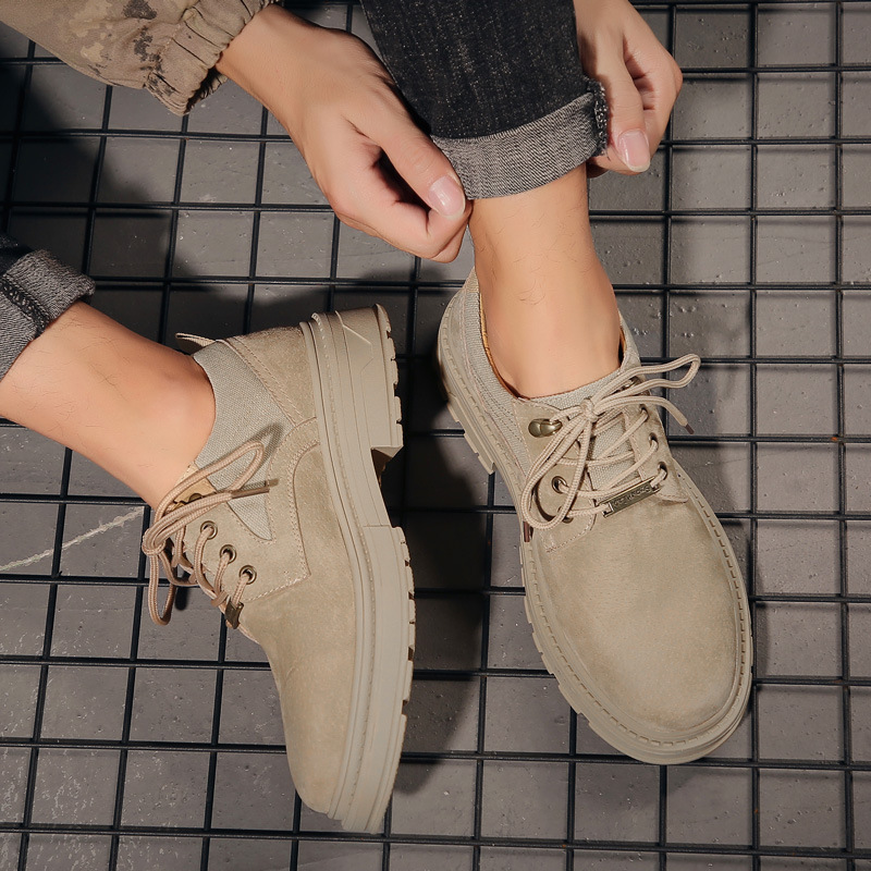 Mens shoes fashion shoes 2019 new autumn British style big head work clothes shoes low top versatile desert Martin boots summer
