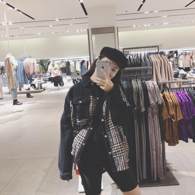 Autumn and winter fashion wool patchwork jacket 2020 Hong Kong style short versatile retro jacket for women