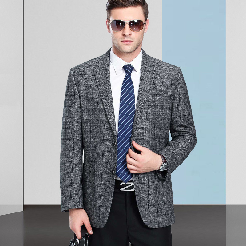 Crazy grab middle-aged and elderly dad leisure suit mens spring business suit non iron single suit