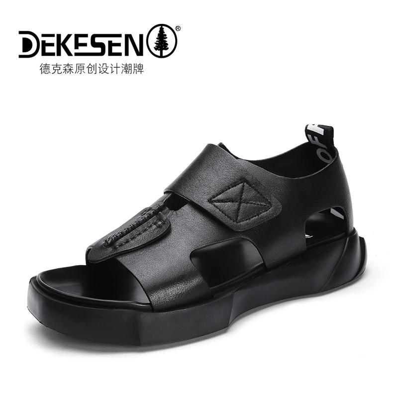 European station trend sandals thick bottom men's sandals 2020 summer new casual all-around high top leather sandals men