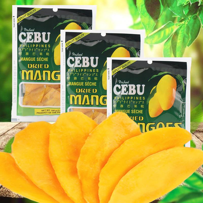 菲律宾进口cebu宿务芒果500g干 手工特产零食100g*5袋图片
