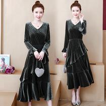 胖MM秋冬时尚少妇女装修身衣服大码连衣裙25至30到40岁35左右裙子