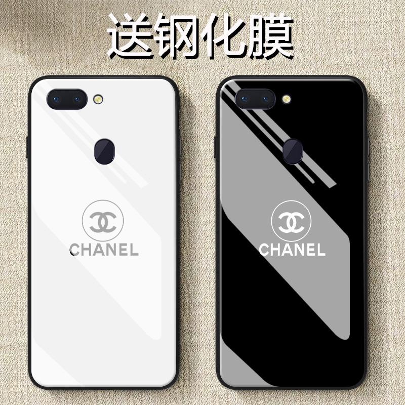 (用17.2元券)简约黑白小香ins网红oppoa5手机壳玻璃a7/a7x镜面a9a3硅胶a1防摔