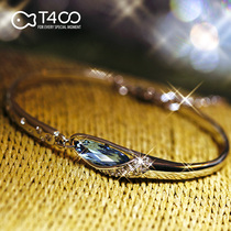 T400 12 constellation Silver bracelet female sterling silver Swarovski silver Bracelet Christmas birthday present to give girlfriend