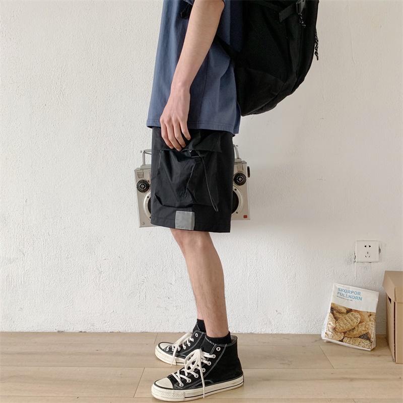 假一赔十男夏季直筒个性日系复古口袋短裤